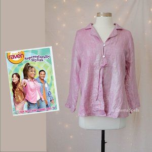 Inspired By: Raven Disney Pink Sparkly Linen Top